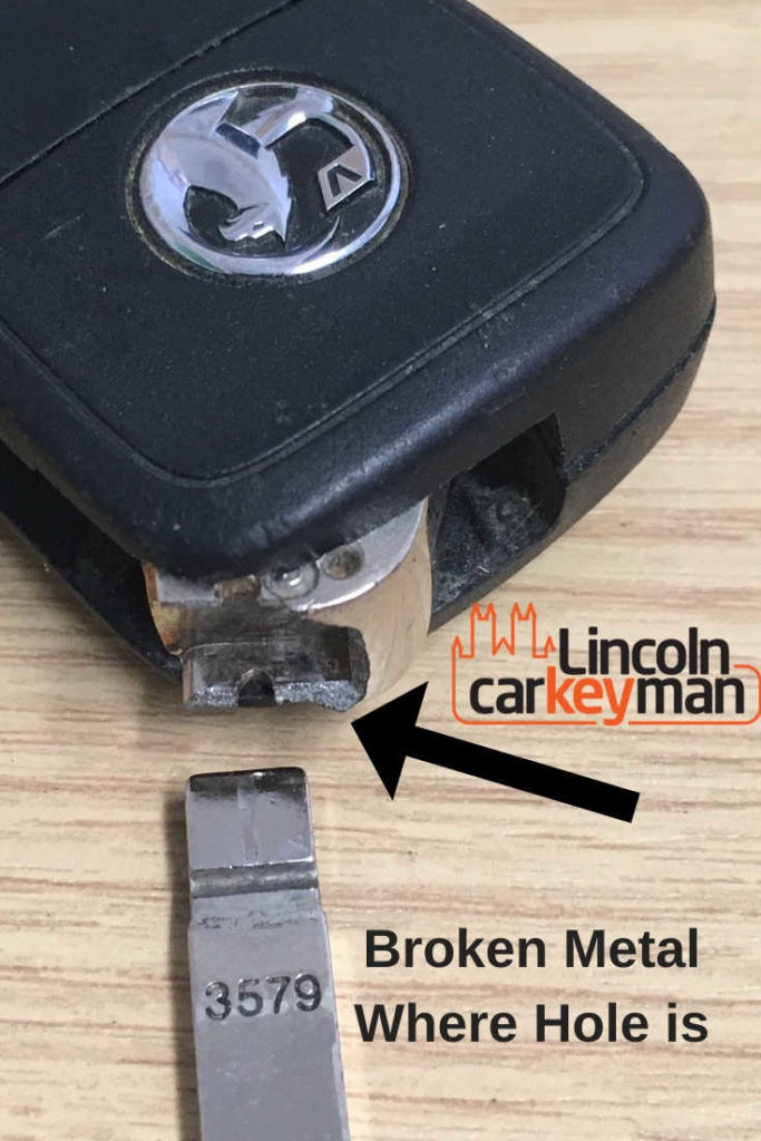 broken car key in lincoln